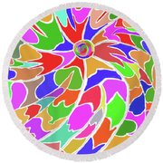 The Eye Of The Universe Round Beach Towel by Fred Jinkins