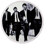 The Fab Four Round Beach Towel