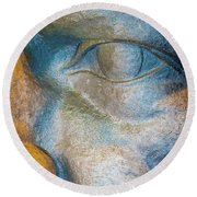 The Face Is A Picture Of The Mind With The Eyes As Its Interpreter. Cicero Round Beach Towel