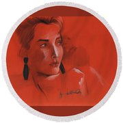 The Face Series - Kelly Round Beach Towel