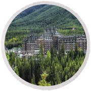 The Fairmont Banff Springs Round Beach Towel