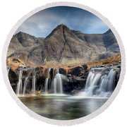 The Fairy Pools - Isle Of Skye 3 Round Beach Towel