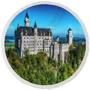 The Fairy Tale Castle Round Beach Towel