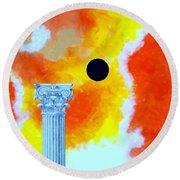 The Fall Of Rome Round Beach Towel by Thomas Gronowski