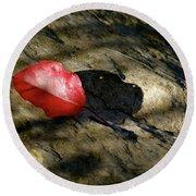 The Fallen Leaf Round Beach Towel