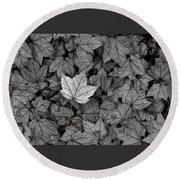 Round Beach Towel featuring the photograph The Fallen by Mark Fuller