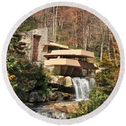 The Fallingwater Round Beach Towel