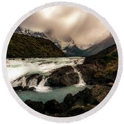 The Falls Round Beach Towel by Andrew Matwijec