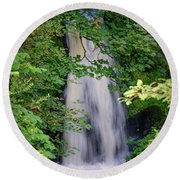 The Falls At Patie's Mill Round Beach Towel