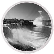 The Falls II Round Beach Towel