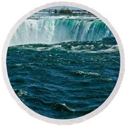 The Falls IIi Round Beach Towel