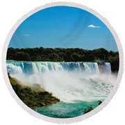 The Falls Round Beach Towel