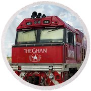 The Famed Ghan Train  Round Beach Towel