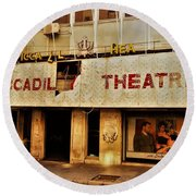 The Famous Beirut Picadilly Theater  Round Beach Towel