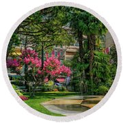 Round Beach Towel featuring the photograph The Fancy Swiss South-west by Hanny Heim