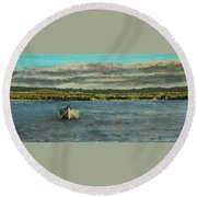 The Far Shore Round Beach Towel