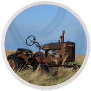 The Farmall Tractor Round Beach Towel