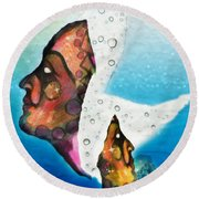 The Fates Chaos Into Hope Round Beach Towel