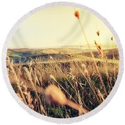 The Fertile Soil Round Beach Towel