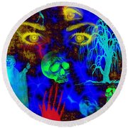 The Fight For Souls Round Beach Towel