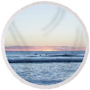 The Final Moments Round Beach Towel