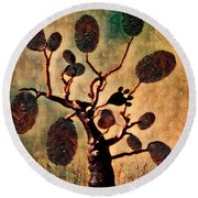 The Fingerprints Of Time Round Beach Towel