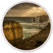 The Fire Sky Round Beach Towel by Andrew Matwijec