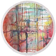 The Fire Within Round Beach Towel