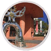 The Firebird At The Bechtler Museum In Charlotte Round Beach Towel