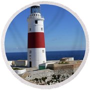 The First And Last Lighthouse On The Continent Of Europe Round Beach Towel