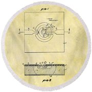 The First Computer Chip Patent Round Beach Towel