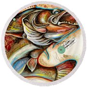The Fish Round Beach Towel