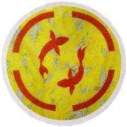 The Fishes Round Beach Towel