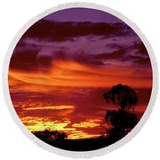 The Flame Thrower Round Beach Towel