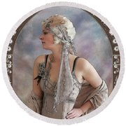 The Flapper Round Beach Towel