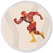 The Flash Round Beach Towel