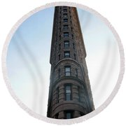 Round Beach Towel featuring the photograph The Flatiron - Manhattan by Madeline Ellis
