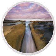 The Flow  Round Beach Towel