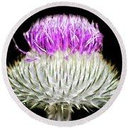 The Flower Of Scotland Round Beach Towel