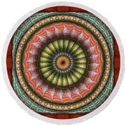 The Flowering Of The Sunshine Moons Round Beach Towel