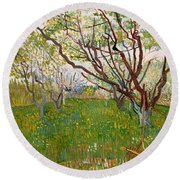 The Flowering Orchard, 1888 Round Beach Towel