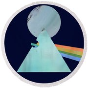 The Floyd's Dark Side Round Beach Towel by Jacquie Gouveia