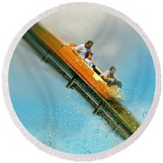 Round Beach Towel featuring the photograph The Flume by Diana Angstadt