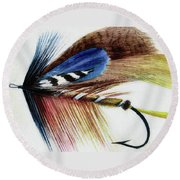 Round Beach Towel featuring the digital art The Fly by Steve Taylor