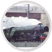 The Flying Scotsman Round Beach Towel