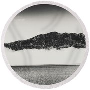 The Fog And The River Round Beach Towel