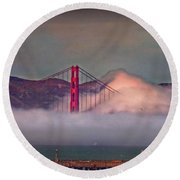 The Fog Round Beach Towel