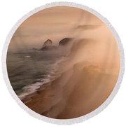 The Fog Round Beach Towel