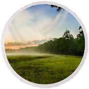 The Fog Of War Round Beach Towel