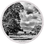 Old John Bradgate Park Round Beach Towel by John Edwards